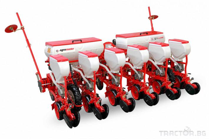 Сеялки Agromaster 6 реда с двойно дисков апарат и тор 0 - Трактор БГ
